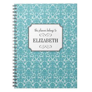 Diario de encargo del planificador del boda del da libro de apuntes