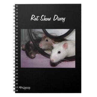 Diario de la demostración de la rata cuadernos