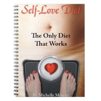 Diario de la dieta del Uno mismo-Amor Libretas Espirales