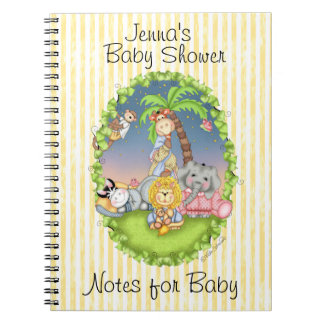 Diario de la fiesta de bienvenida al bebé de BaZoo Libretas Espirales