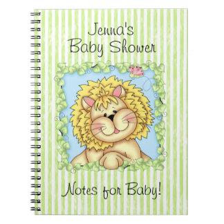 Diario de la fiesta de bienvenida al bebé de BaZoo Libro De Apuntes