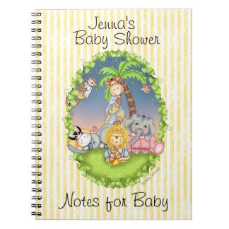 Diario de la fiesta de bienvenida al bebé de BaZoo Spiral Notebook
