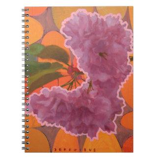 Diario de la flor de cerezo note book