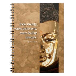 Diario de la fuerza del Gentleness de la serenidad Libreta Espiral