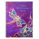 Diario de la gratitud: Pintura de seda de la libél Cuadernos