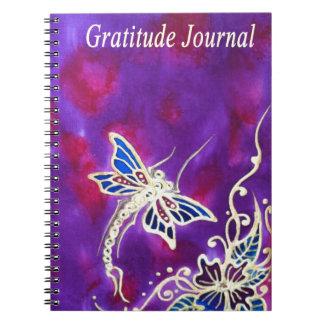 Diario de la gratitud: Pintura de seda de la libél Libros De Apuntes
