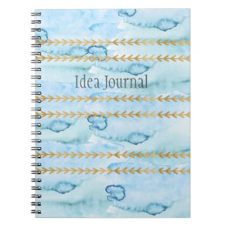 Diario de la idea en azul del glaciar de la notebook