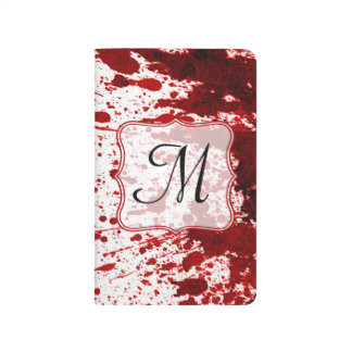 Diario de la inicial del monograma del goteo de la cuadernos grapados