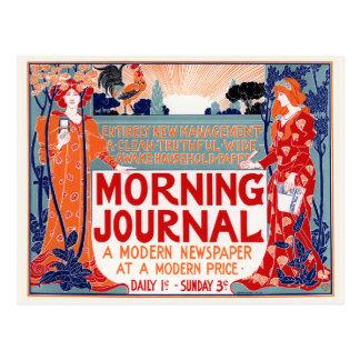 Diario de la mañana - Louis Rhead Tarjeta Postal