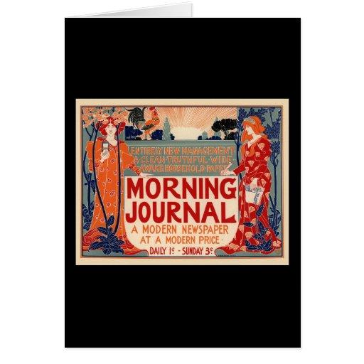 Diario de la mañana tarjeta de felicitación