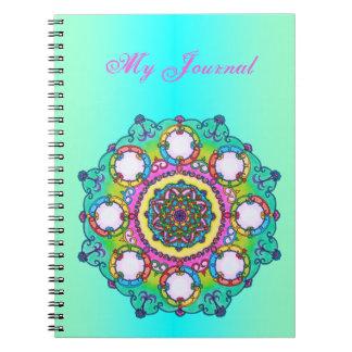 Diario de la mandala del copo de nieve, cuaderno, cuaderno