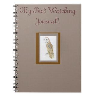 Diario de la observación de pájaros libros de apuntes