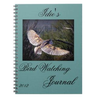 Diario de la observación de pájaros libreta espiral