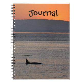 Diario de la orca de la puesta del sol libreta