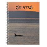 Diario de la orca de la puesta del sol notebook