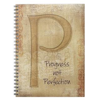 Diario de la perfección del progreso no note book