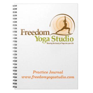 Diario de la práctica del estudio de la yoga de la libro de apuntes
