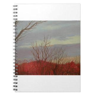 Diario de la salida del sol de marzo - cuaderno