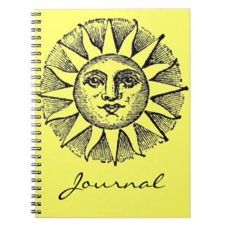 Diario de la sol libro de apuntes con espiral