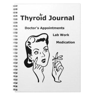 Diario de la tiroides de la enfermedad de libretas espirales