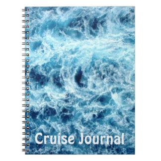 Diario de la travesía del mar que remolina spiral notebook