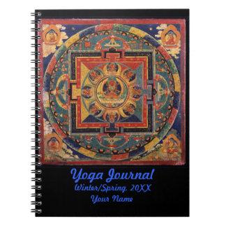 Diario de la yoga de la mandala de Buda personaliz Cuaderno