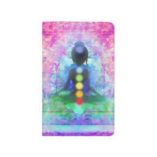 Diario de la yoga de la meditación cuaderno grapado
