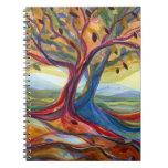 Diario de los árboles del otoño libro de apuntes con espiral