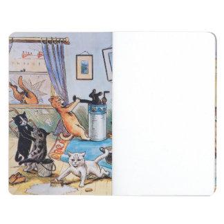 Diario de los gatos de la limpieza de Louis Wain Cuadernos Grapados