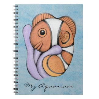 Diario del acuario de Clownfish Spiral Notebook