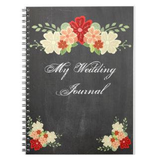 Diario del boda de la pizarra de la flor de la nar
