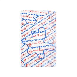 Diario del bolsillo con diseño del alfabeto cuaderno