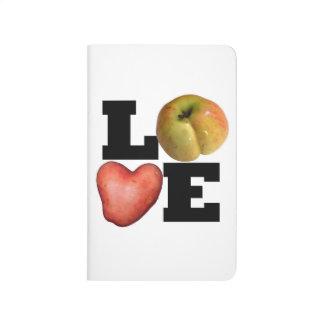 Diario del bolsillo de la patata de Apple de la Cuaderno Grapado