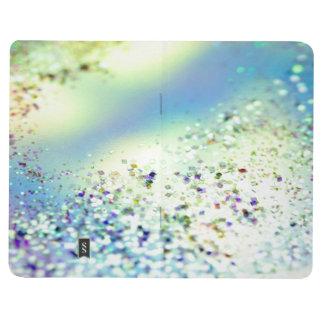 Diario del bolsillo de los pasteles del confeti de cuadernos