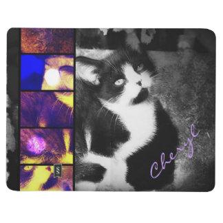 Diario del bolsillo del arte de la foto del gatito cuadernos grapados