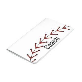 Diario del bolsillo del béisbol cuaderno grapado
