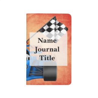 Diario del bolsillo del coche de competición cuadernos grapados