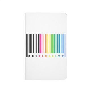 Diario del bolsillo del código de barras del arco cuadernos grapados