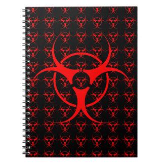diario del cojín de bosquejo del Biohazard del cua Libros De Apuntes