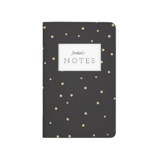 Diario del cuaderno de bolsillo de Polkadot del
