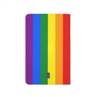 Diario del cuaderno de la bandera del orgullo