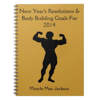 Diario del cuaderno del Bodybuilder - personalizab