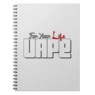 Diario del cuaderno del corazón de Vape