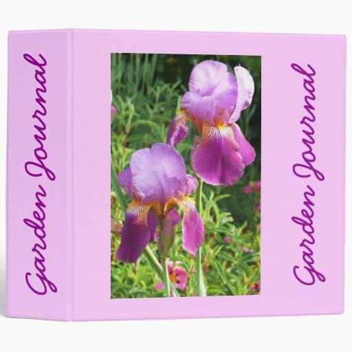 """Diario del jardín de dos iris - Avery 2"""" carpeta"""