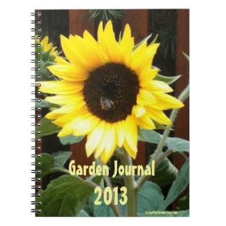 Diario del jardín del girasol cuaderno