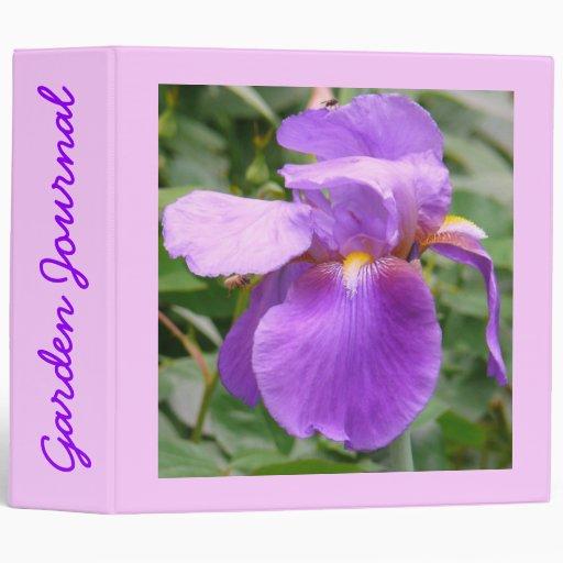 "Diario del jardín del iris - Avery 2"" carpeta"
