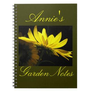 Diario del jardín cuaderno