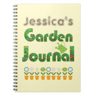 Diario del jardín libreta