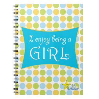 Diario del lunar para los chicas notebook