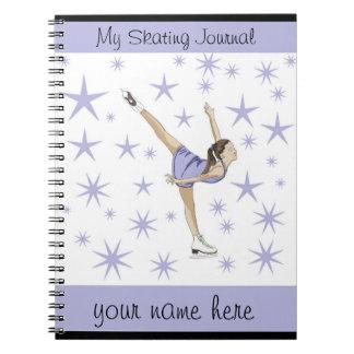 Diario del patinaje artístico note book